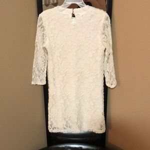 Forever21 Laced dress girl size 7/8, white